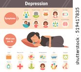 depression   symptoms and...   Shutterstock .eps vector #519417835