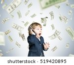 cute toddler wearing a suit and ... | Shutterstock . vector #519420895