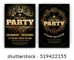 christmas party poster template ... | Shutterstock .eps vector #519422155