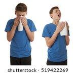 set of cute teenager boy in... | Shutterstock . vector #519422269