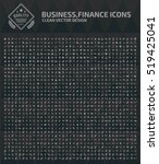 business and finance icon set... | Shutterstock .eps vector #519425041