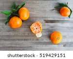 tangerines on a wooden surface ... | Shutterstock . vector #519429151