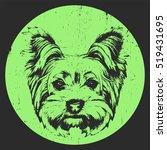 portrait of yorkshire terrier... | Shutterstock .eps vector #519431695