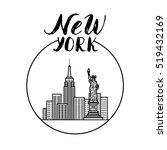 new york illustration with...   Shutterstock .eps vector #519432169