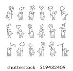 cartoon icons set of sketch... | Shutterstock .eps vector #519432409