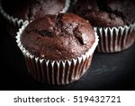 Chocolate Muffin On Dark...