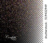 multicolored confetti glitters. ... | Shutterstock .eps vector #519432949