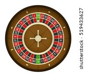 american casino roulette wheel | Shutterstock .eps vector #519433627