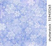 vector snowflakes blue... | Shutterstock .eps vector #519435265