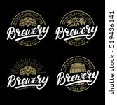 set of brewery hand written... | Shutterstock .eps vector #519436141