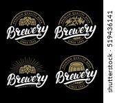 set of brewery hand written... | Shutterstock .eps vector #519436141