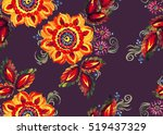 decorative painting composition ... | Shutterstock . vector #519437329