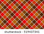 Brown Red Diagonal Check...