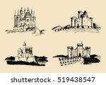 vector old castles... | Shutterstock .eps vector #519438547