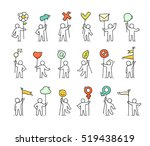 cartoon icons set of sketch... | Shutterstock .eps vector #519438619