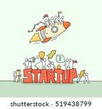 cartoon working little people... | Shutterstock .eps vector #519438799
