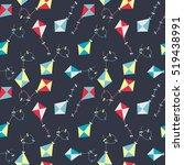 kite seamless pattern... | Shutterstock .eps vector #519438991