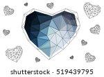 dark blue heart isolated on... | Shutterstock .eps vector #519439795