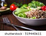 healthy salad bowl with quinoa  ... | Shutterstock . vector #519440611