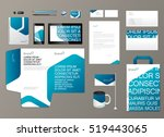 corporate identity template.... | Shutterstock .eps vector #519443065