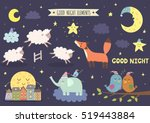 good night isolated elements... | Shutterstock .eps vector #519443884