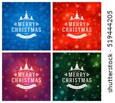 christmas greeting cards... | Shutterstock .eps vector #519444205