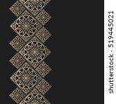 golden frame in oriental style. ... | Shutterstock .eps vector #519445021