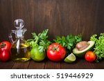 fresh tomatoes  lime  avocado ... | Shutterstock . vector #519446929