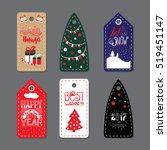 merry christmas label badge....   Shutterstock .eps vector #519451147