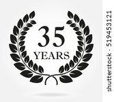 35 years. anniversary or... | Shutterstock .eps vector #519453121