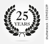 25 years. anniversary or... | Shutterstock .eps vector #519453139