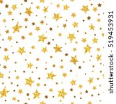 golden glittering stars... | Shutterstock .eps vector #519453931