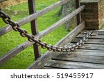 Large Iron Chain On An Old...