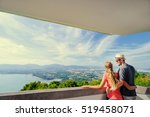 tourist attraction. couple of... | Shutterstock . vector #519458071