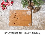 christmas card or letter on the ... | Shutterstock . vector #519458317