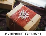 christmas gift box decorated by ...