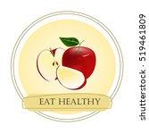 Red Apple  Half Of Apple  Slic...