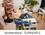 picture of handsome men resting ... | Shutterstock . vector #519461911