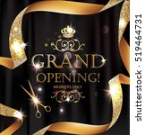 elegant grand opening card with ... | Shutterstock .eps vector #519464731