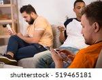 closeup picture of men using... | Shutterstock . vector #519465181