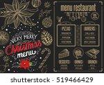 christmas restaurant brochure ... | Shutterstock .eps vector #519466429