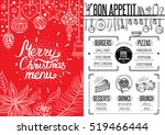 christmas restaurant brochure ... | Shutterstock .eps vector #519466444
