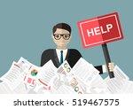 businessman needs help under a... | Shutterstock .eps vector #519467575