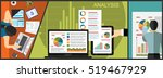 flat design illustration... | Shutterstock .eps vector #519467929