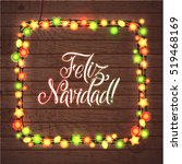 merry christmas spanish... | Shutterstock .eps vector #519468169