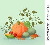 happy thanksgiving background... | Shutterstock .eps vector #519468181