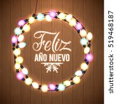happy new year spanish language ... | Shutterstock .eps vector #519468187