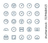 meter vector icons in thin line ... | Shutterstock .eps vector #519468415