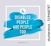 world disability day typography ... | Shutterstock .eps vector #519468787