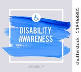world disability day typography ... | Shutterstock .eps vector #519468805